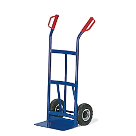 Carretilla para sacos con pared trasera bombeada, capacidad de carga 200kg, ruedas de goma maciza