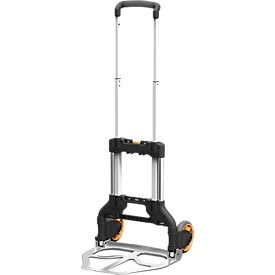 Carretilla para sacos EX-GH75, aluminio, plegable, hasta 75kg, empuñadura ergonómica, ruedas TPR, con correa de sujeción, An 477 x P 396 x Al 1040mm