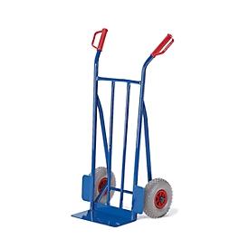 Carretilla para sacos, ruedas de goma maciza, capacidad de carga 250kg