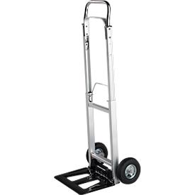 Carretillas de aluminio con ruedas neumáticas, capacidad de carga de 90 kg