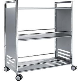 Carrito de servicio artline, aluminio plateado