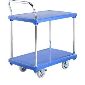 Carrito de transporte con mesa, 2 niveles