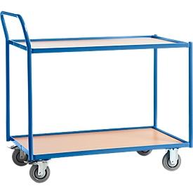 Carrito de transporte con mesa, 2 niveles, L 790 x An 490mm