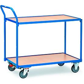 Carrito de transporte con mesa con 2 niveles, 850 x 500mm