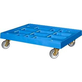 Carrito de transporte, para recipiente 810 x 610mm, azul