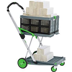 Carrito plegable CLAX®, con caja plegable + 5000 hojas de papel para manos GRATIS