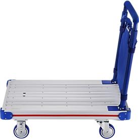 Carro de plataforma de aluminio, plegable, capacidad de carga 150 kg, peso 8,5 kg