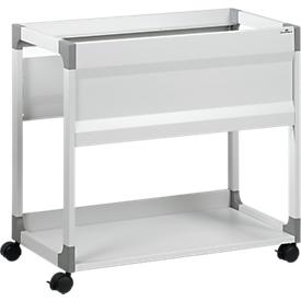 Carro para carpetas colgantes System File Trolley 80 A4, gris