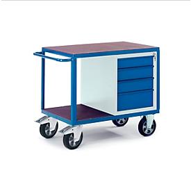 Carro portaherramientas para carga pesada con armario de cajones, 1000 x 700mm, capacidad de carga 1000kg