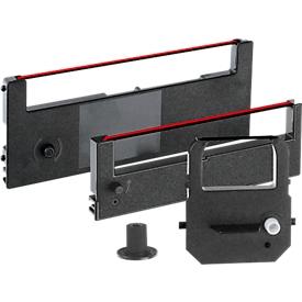 Cartucho de cinta para sistemas de registro de tiempo, negro/rojo