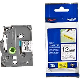 casete de cinta brother TZe-S231, 12 mm de ancho, blanco/negro