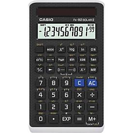 Casio Rechner FX-82Solar II, technisch-wissenschaftlicher Rechner, 144 Funktionen