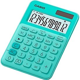 Casio Tischrechner MS-20UC, 12-stelliges LC-Display, Solar-/Batteriebetrieb, grün