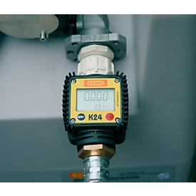 Caudalímetro digital K24 para depósito portátil CEMO DT-Mobil Easy 200l, capacidad medición 40l/min, plástico, negro-amarillo