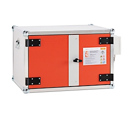 CEMO acculaadkast Premium Plus, brandwerendheid F60, 4-voudige contactdoos 3500 W, toegang op afstand, rookmelder, ventilatie, slot, B 890 x D 660 x H 520 mm