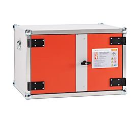 CEMO batterijopslagkast, brandwerendheid F60, met rookdetector, afsluitbaar, zonder stroomvoorziening & zonder ventilatie, B 800 x D 600 x H 520 mm