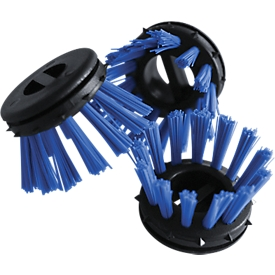 Cepillos para insertar en estera de aros de goma, azul