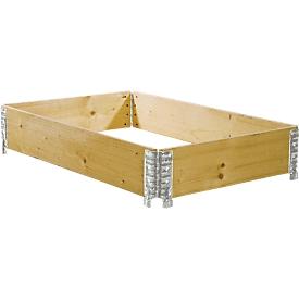 Cerco de madera, plegable por el medio, 800 x 1200 x 200mm