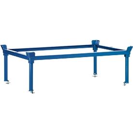 Cerco, para chasis para palets, acero, hasta 1200kg, azul, Al 370/652 mm