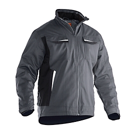 Chaqueta de cintura Jobman 1317 PRÁCTICA, forrada, gris oscuro, poliéster I algodón, M