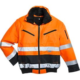 Chaqueta de piloto de alta visibilidad, naranja/azul, talla L