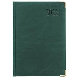 Chefkalender Sidney, ohne Einzelverpackung, 416 Seiten, B 150 x H 210 mm, Werbedruck 100 x 80 mm, grün, Auswahl Werbeanbringung optional