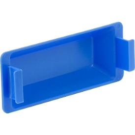 Cierre de empuñadura para caja con dimensiones norma europea MF, azul
