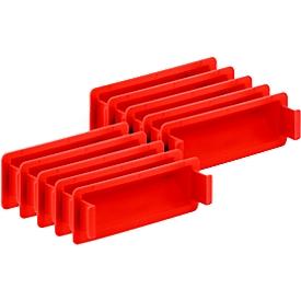 Cierre de empuñadura para caja con dimensiones norma europea, rojo, 10 unidades