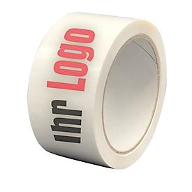 Cinta adhesiva de PVC, impresión a 2 colores, blanca, 72 rollos