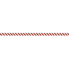 Cinta de barrera, lámina de polietileno, 100 m x 80 mm, rojo/blanco cruzado, 1 rollo