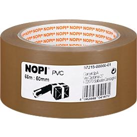 Cinta de embalaje de PVC 572155, marrón, 50 mm, 6 rollos