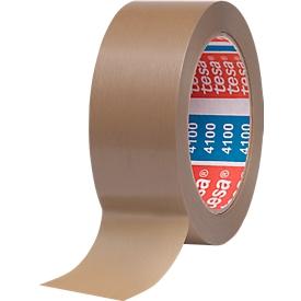 Cinta de embalaje de PVC tesa® 4100, marrón, 38 mm, 8 rollos