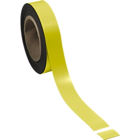Cinta magnética de escribir, amarilla, 30 x 10000 mm