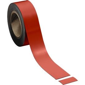 Cinta magnética, rojo claro, 50 x 10000mm