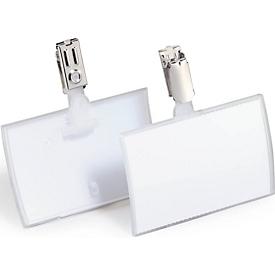 CLICK FOLD naambadges met clip, 54 x 90 mm, 25 stuks