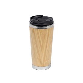 Coffee-To-Go-Becher Bambus - ca. 480ml, Braun, Auswahl Werbeanbringung optional