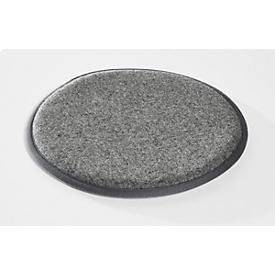 Cojín de asiento Interstuhl p. taburete UPis1, ø 320mm, parte inferior antideslizante, lana virgen/PA, gris claro
