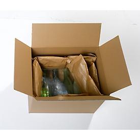 Cojín de papel karo pack®, neutro en CO2, reutilizable, 25 piezas de L 300 x A 180 mm cada una, blanco
