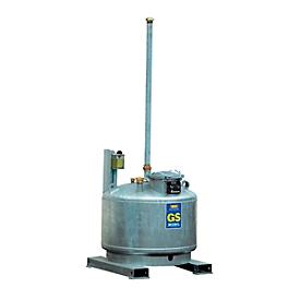 Colector de materiales peligrosos móvil CEMO, acero, galvanizado, An 960 x P 960 x Al 3100mm, 400 l