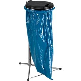 Colector de residuos con tapa, galvanizado