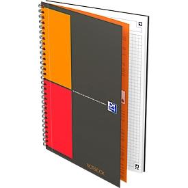 Collegeblok Oxford International Notebook, B5, geruit, 80 g/m², SCRIBZEE®-compatibel, 80 vellen, 5 stuks