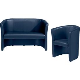 Complete aanbieding Club fauteuil + tweezit, donkerblauw