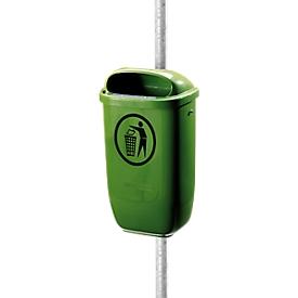 Complete aanbieding prullenbak/buis, groen