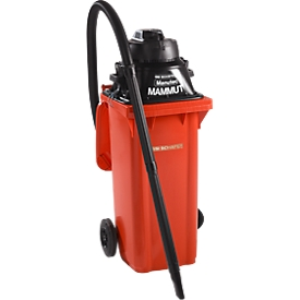 Complete set nat- en droogzuiger, zonder stopcontact voor gereedschap, incl. grote vuilnisbak voor 120 l, rood