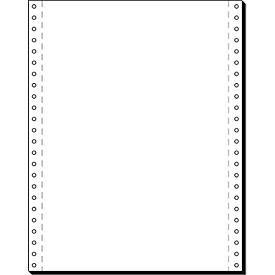 Computer-kettingpapier, LP, 1-voudig blanco, 2000 stuks