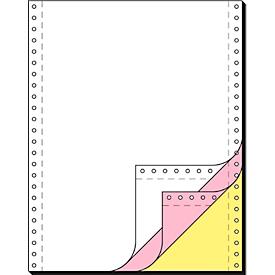 Computer-kettingpapier, LP, SD, roze + gele kopie, 3-voudig blanco, 600 stuks
