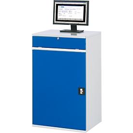 Computer-Schrank Typ 650-M60, B 650 x T 520 x H 1060 mm, stationär