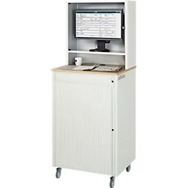 Computer-Station adlatus Typ 2015, B 720 x T 660 x H 1810 mm, fahrbar