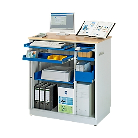 Computerstation adlatus type 6001, B 1030 x D 660 x H 1100 mm, stationair