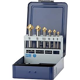 Conische verzinkboren set 6,3-20,5 mm HSS 90 graden